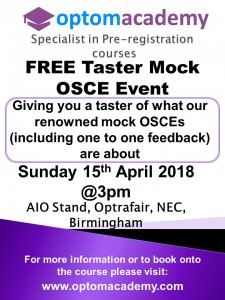 OptomAcademy Leaflet - group taster mock OSCEs AIO